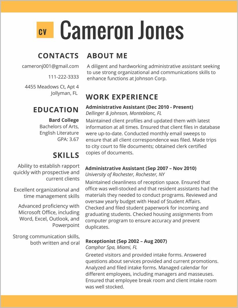 Free Resume Template 2017