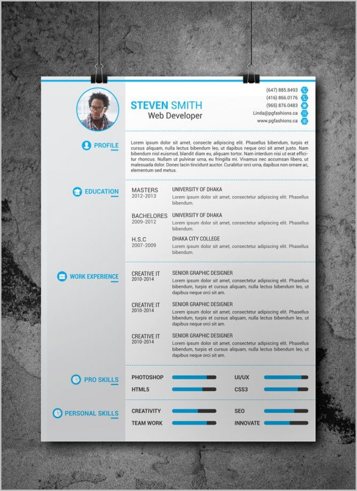 Free Resume Template 2018 Download