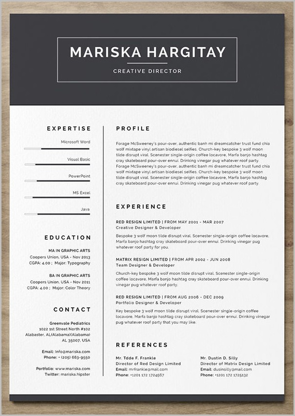 Free Resume Template Creative