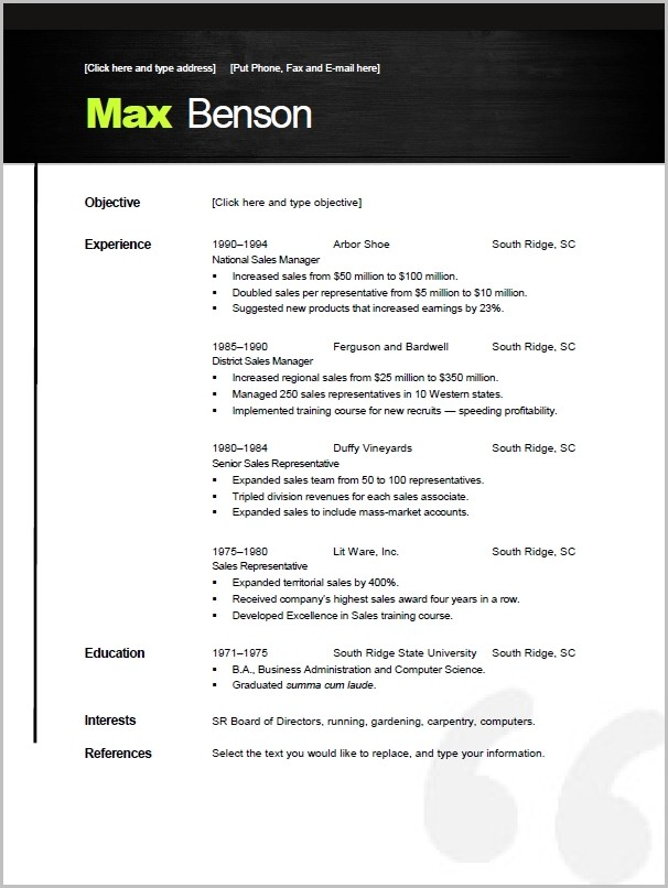 Free Resume Templates Open Office Writer Templates 1 Resume Examples