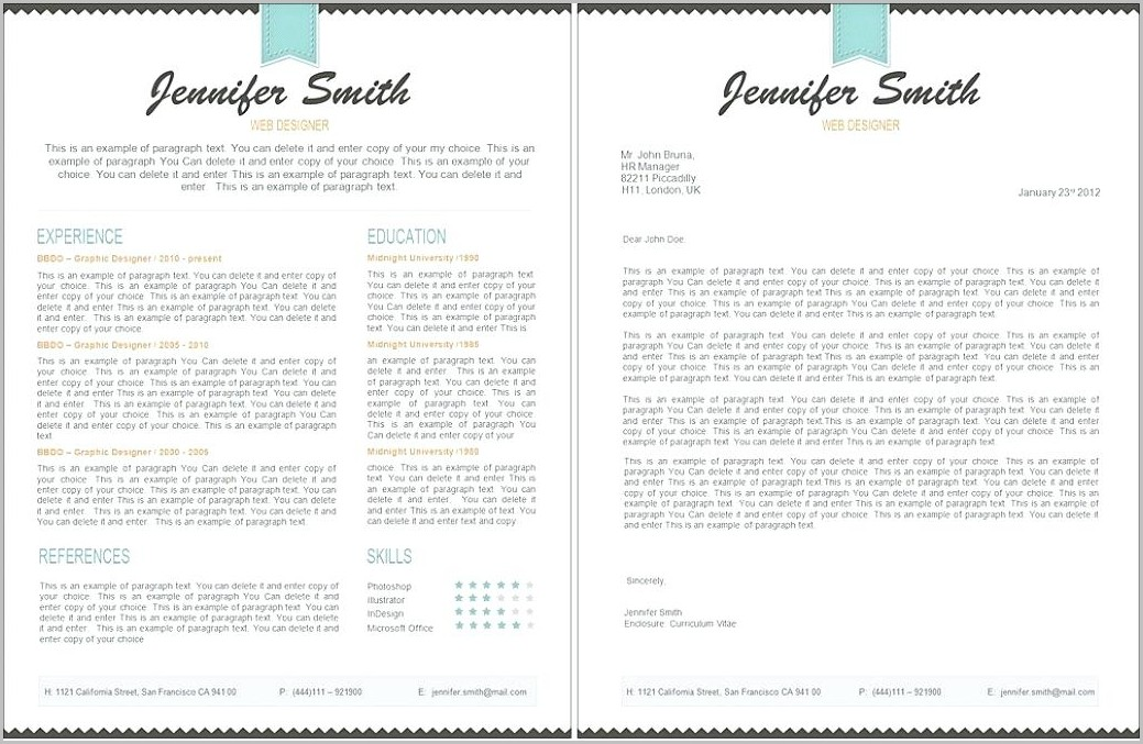 Free Resume Template Pages Mac