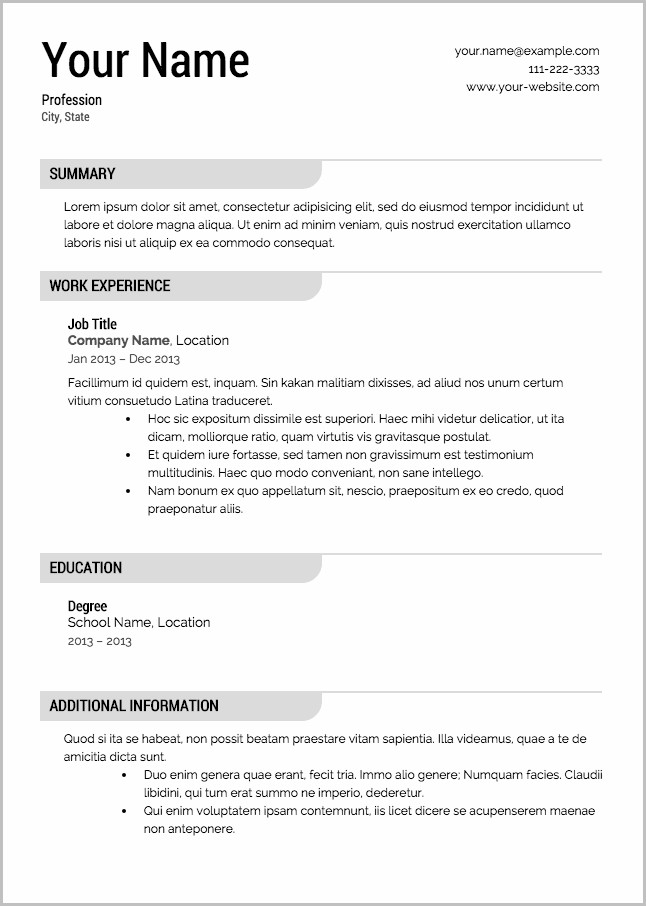 Free Resume Template With Photo Insert Templates1