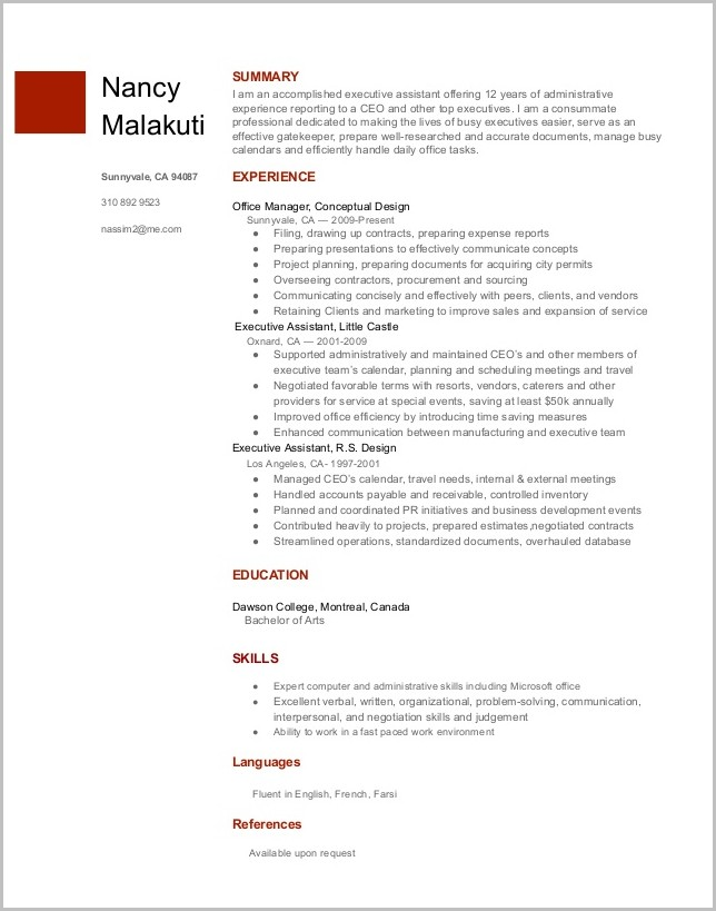 Free Resume Templates On Google Docs