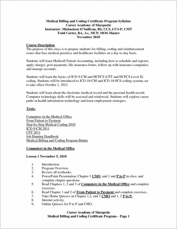 Free Sample Cover Letter For Medical Billing And Coding