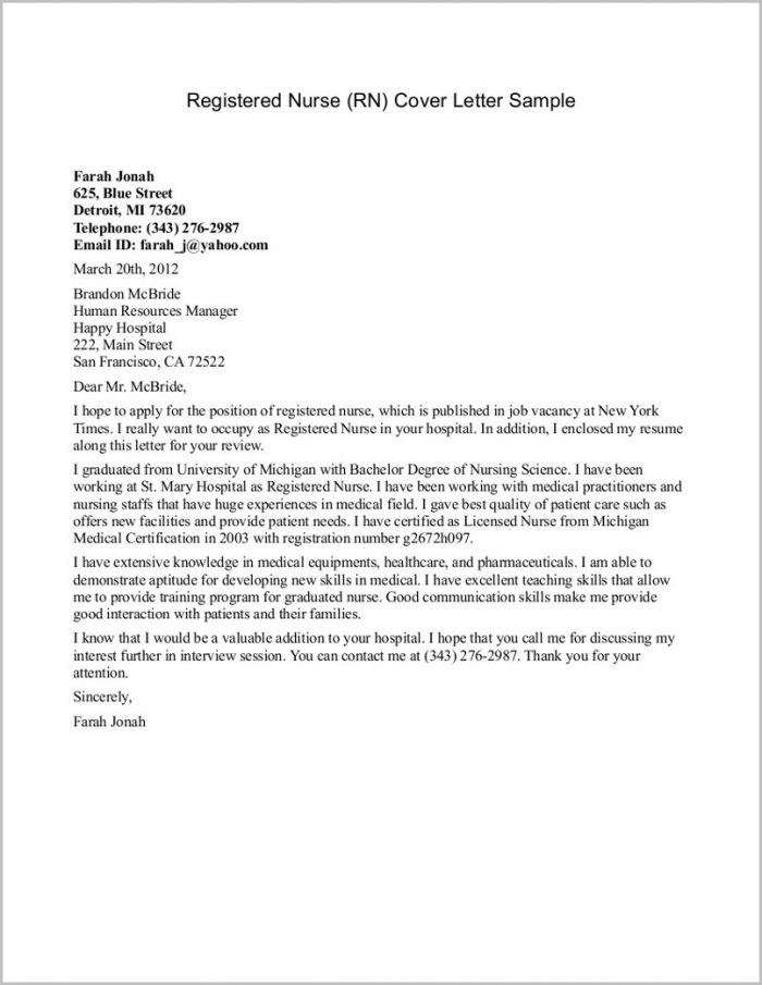 Find Cool Rn Cover Letter Examples  You Should Know