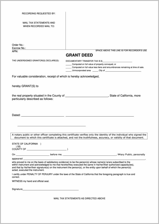 Grant Deed Form California Pdf