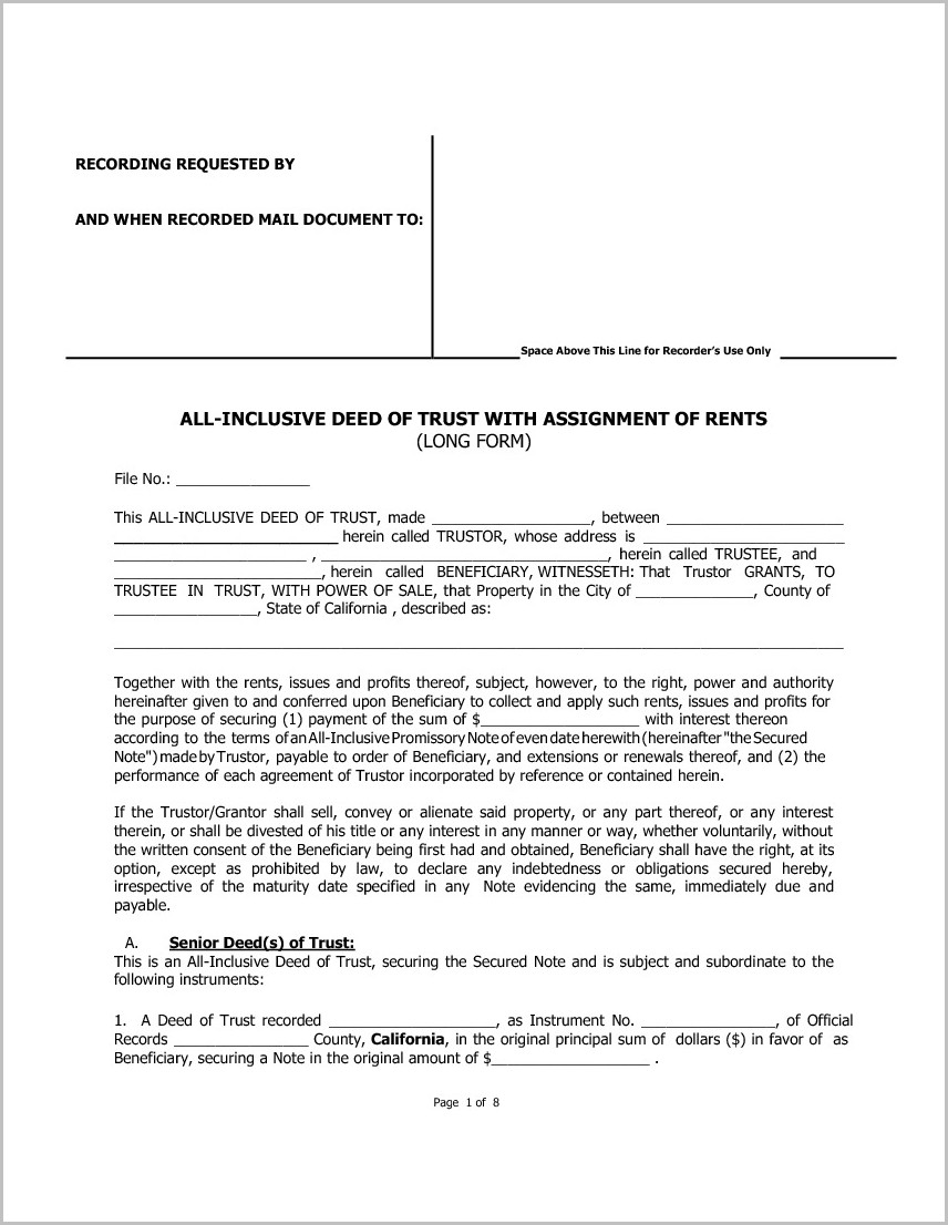 Grant Deed Form County Of San Bernardino