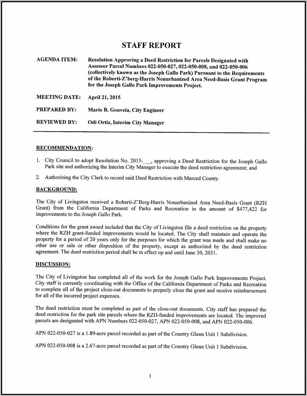 Grant Deed Form Merced County