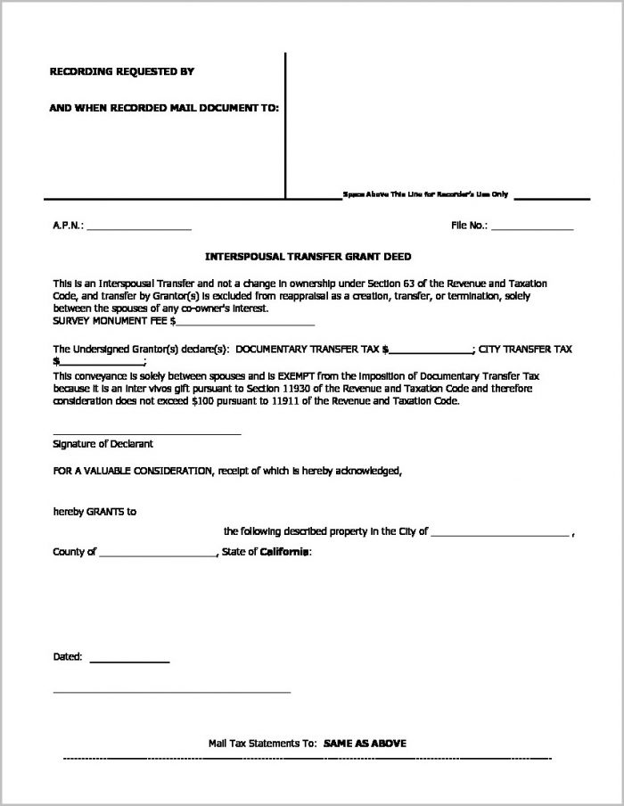 Grant Deed Form Riverside County