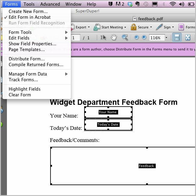 How To Create Fillable Pdf Forms In Acrobat 8 Standard