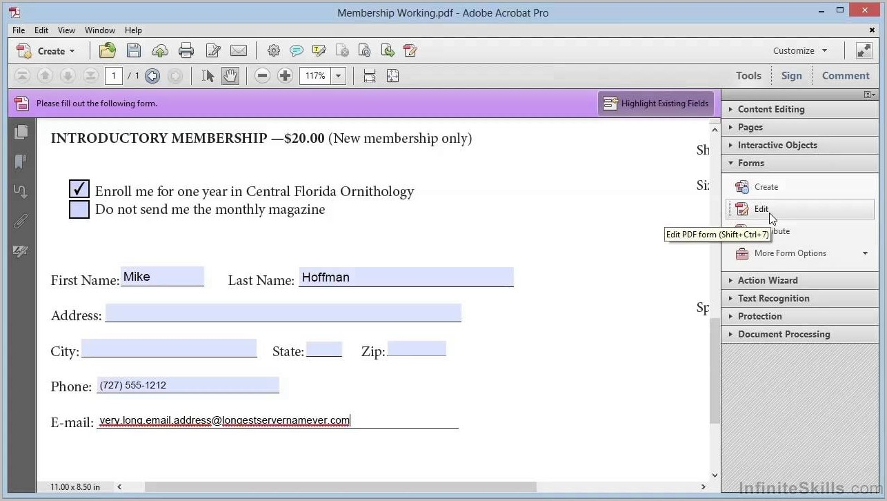 How To Create Fillable Pdf Forms In Acrobat X Pro