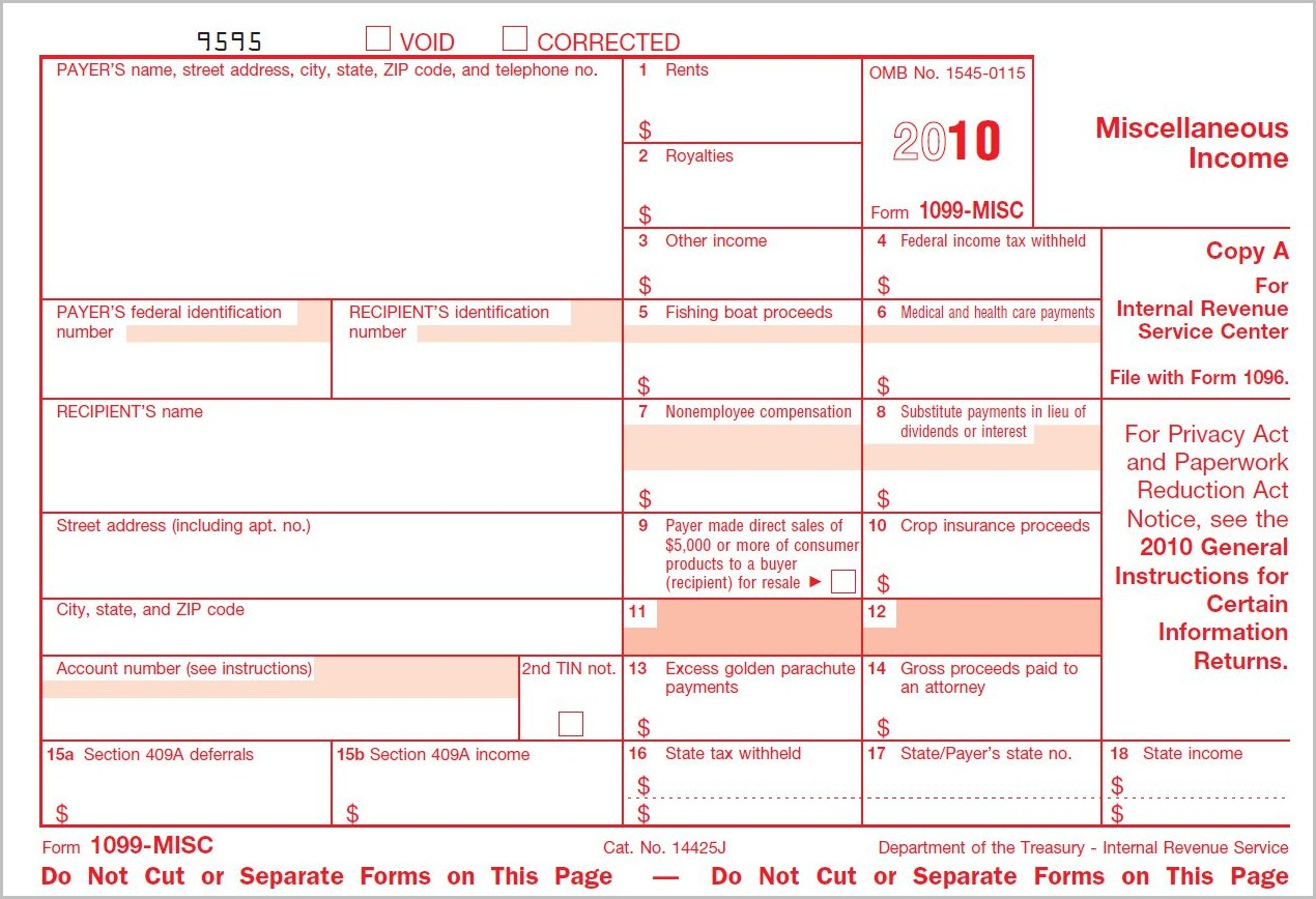 Irs 1099 Form Rules