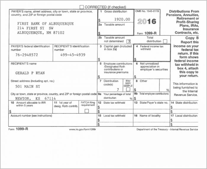 Irs Form 1099 Code 7