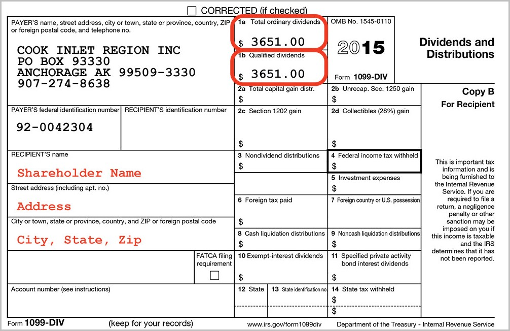 Irs Form 1099 Div Instructions
