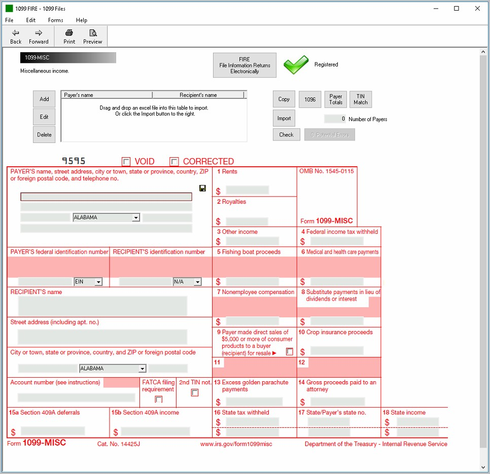 Irs Form 1099 E File