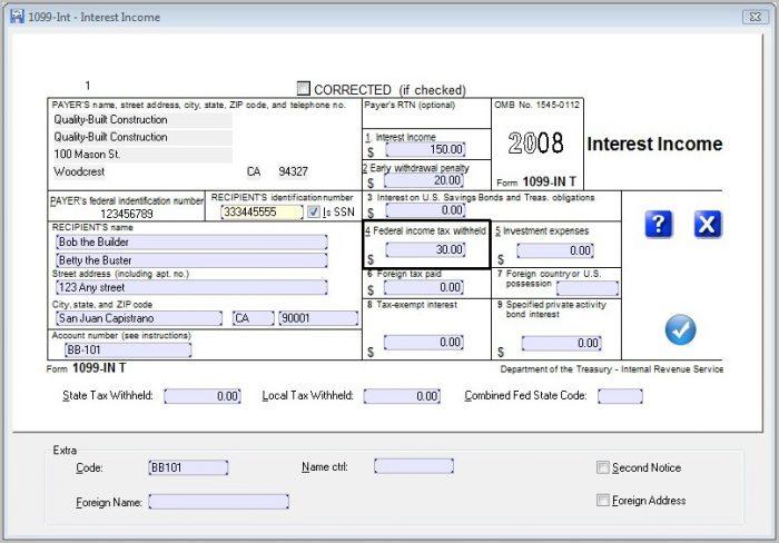 Irs Form 1099 I