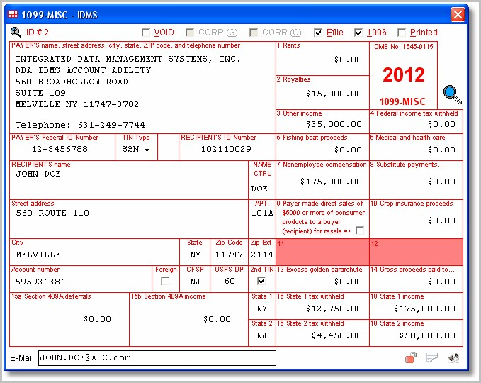 Irs Form 1099 Software