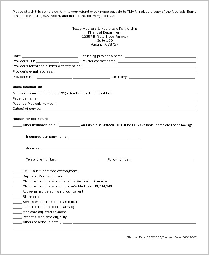 Medicaid Appeal Form Texas