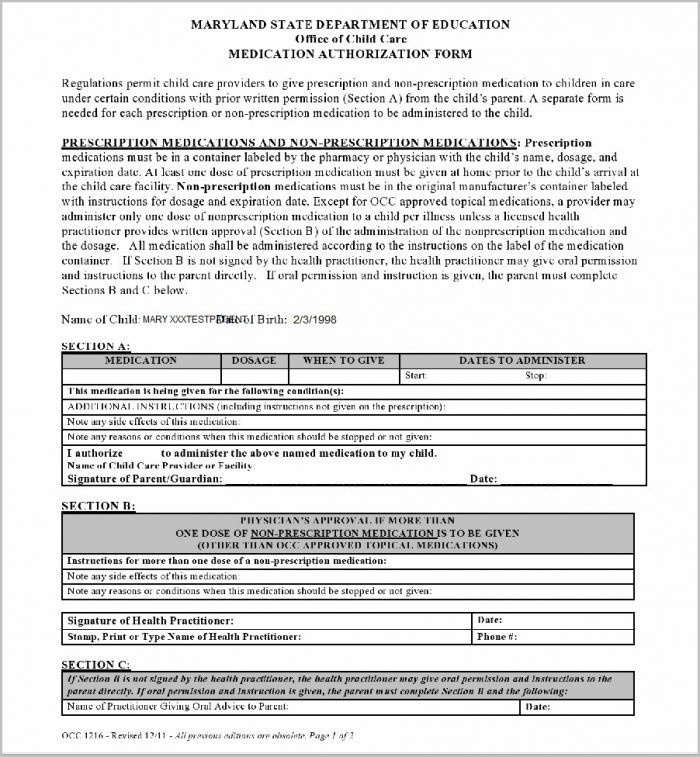 Medicaid Application Form Ohio