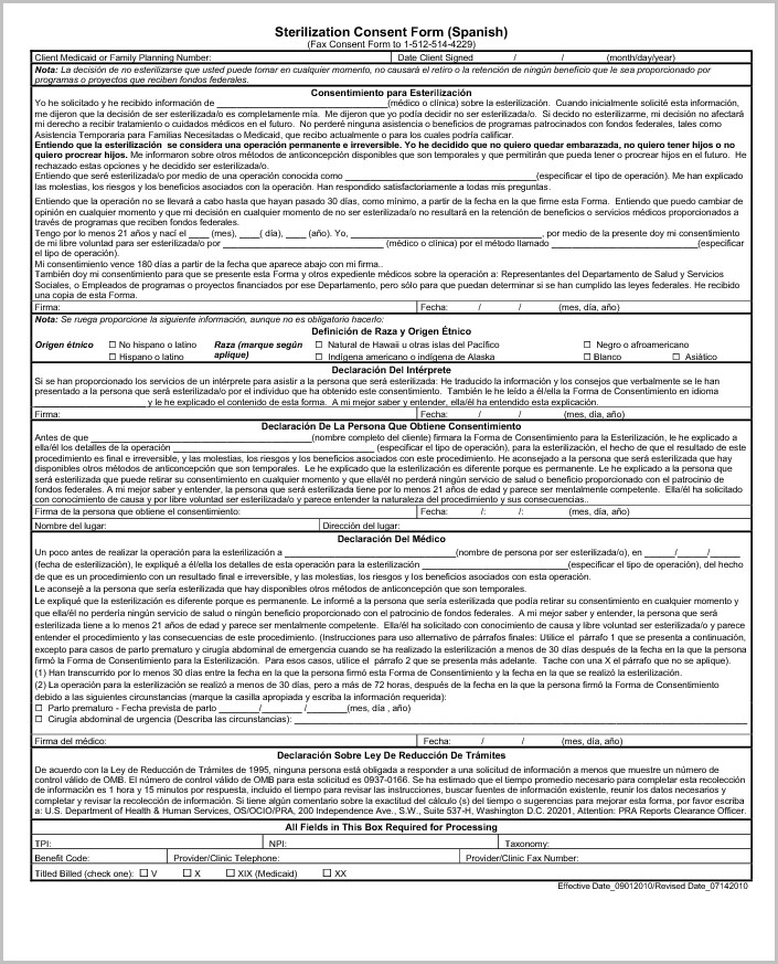 Medicaid Application Form Spanish
