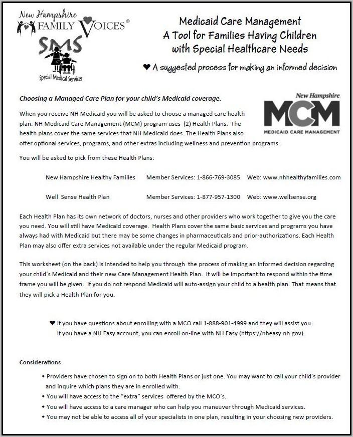 Nh Medicaid Application Form 800