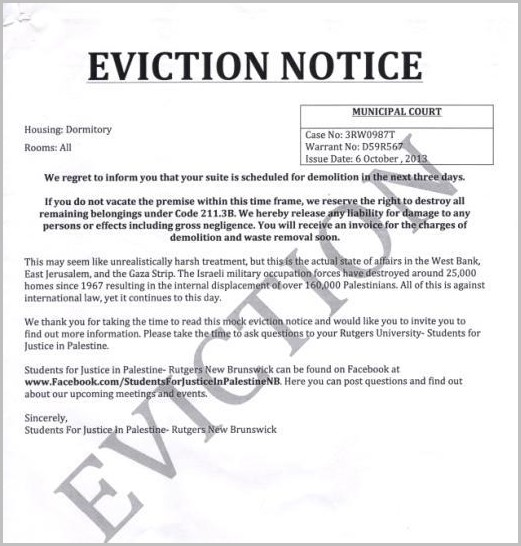Notice Of Eviction From Apartment