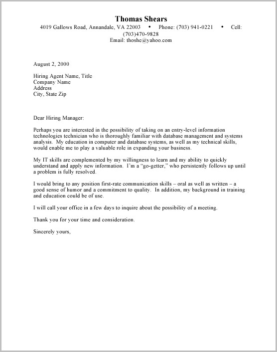 Nursing Student Cover Letter For Resume