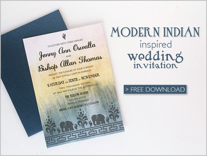 Online Indian Wedding Invitation Templates Free Download