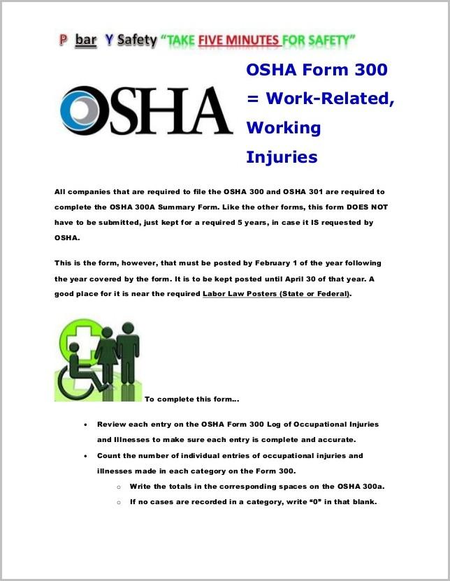 Osha 300a Form Word