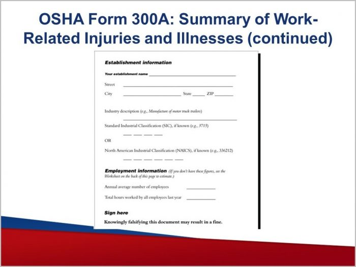 Osha Form 300a Due Date