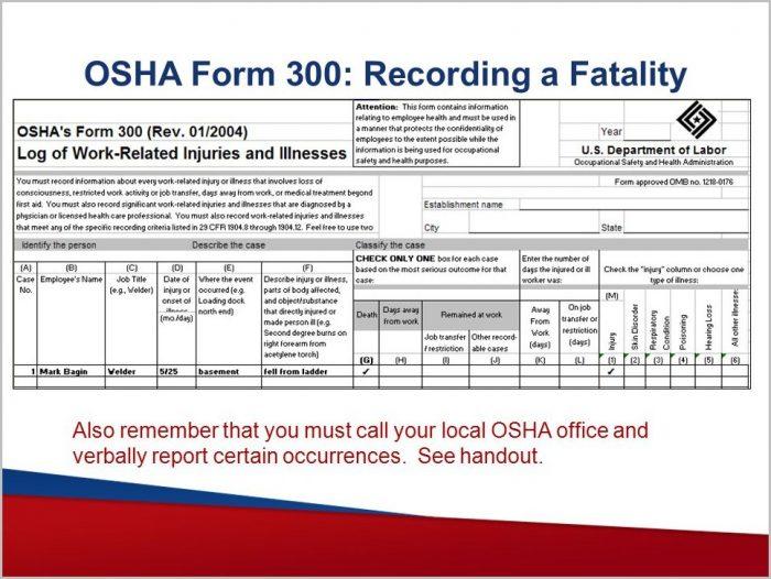 Osha Form 300a Faq