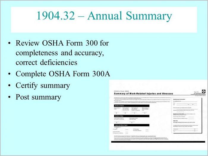 Osha Form 300a Multiple Locations
