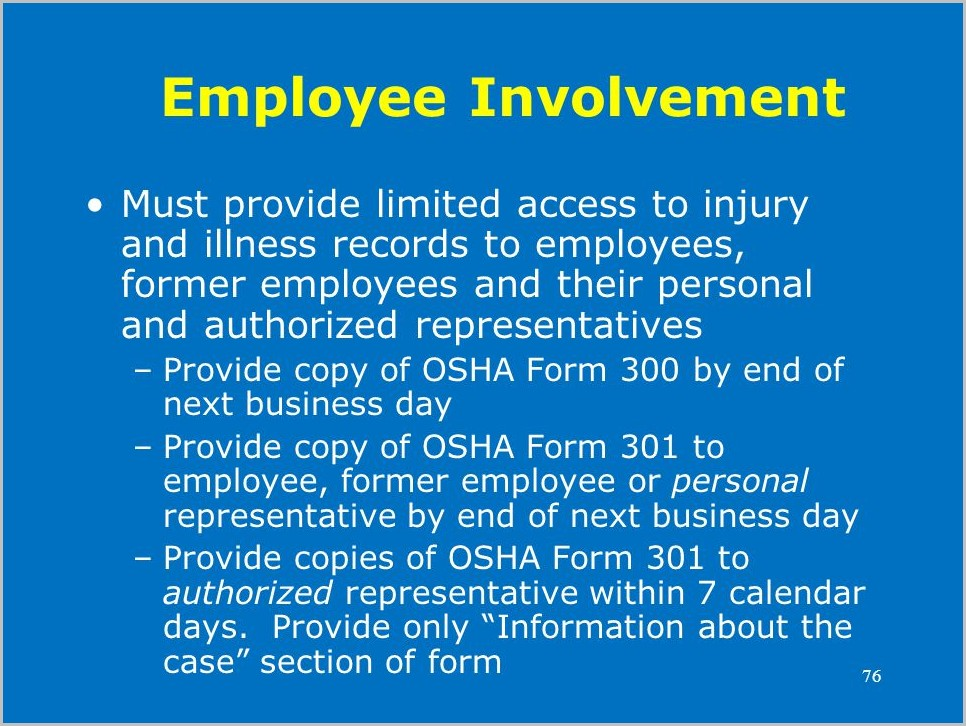 Osha Form 300a Optional Worksheet