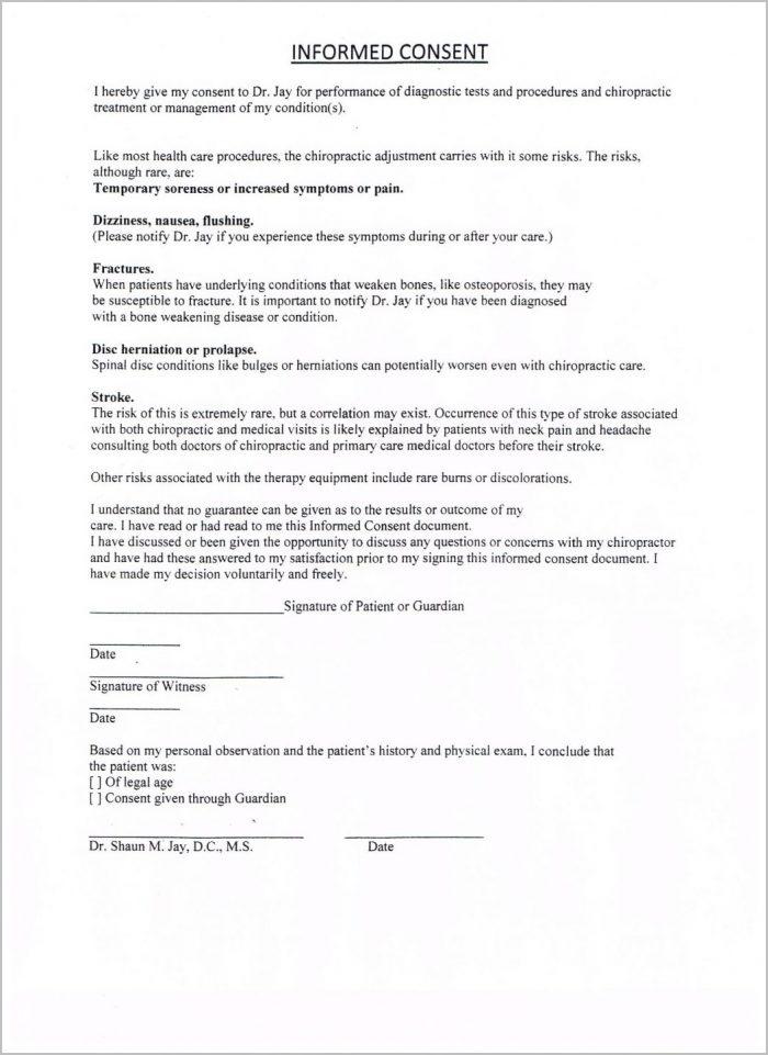 Printable Chiropractic Intake Forms