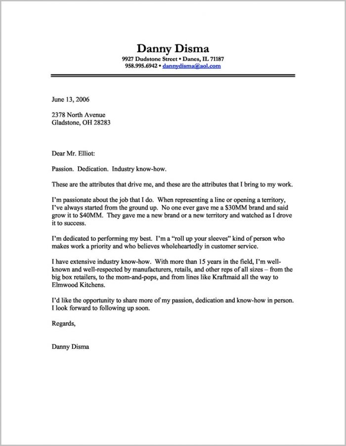 Printable Cover Letter Templates Free