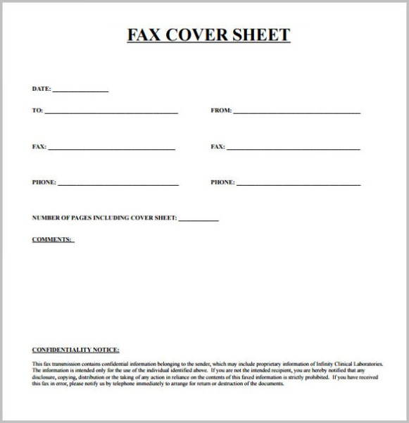 Printable Fax Cover Letter Pdf