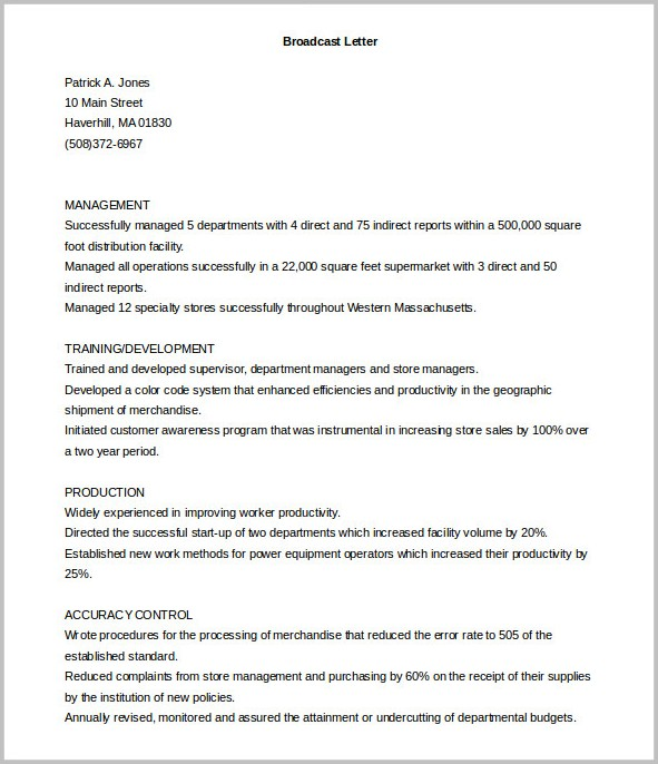 Printable Samples Of Cover Letters
