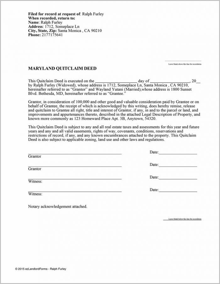 Quit Claim Deed Form Cobb County Ga