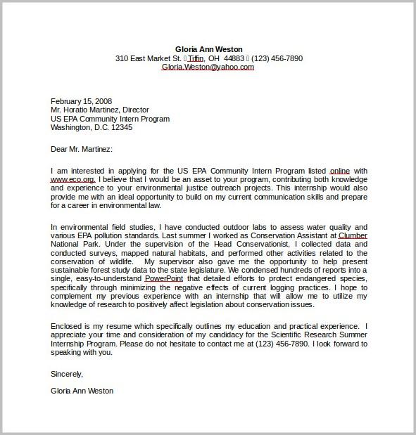 Resume Cover Letter Sample Free Download