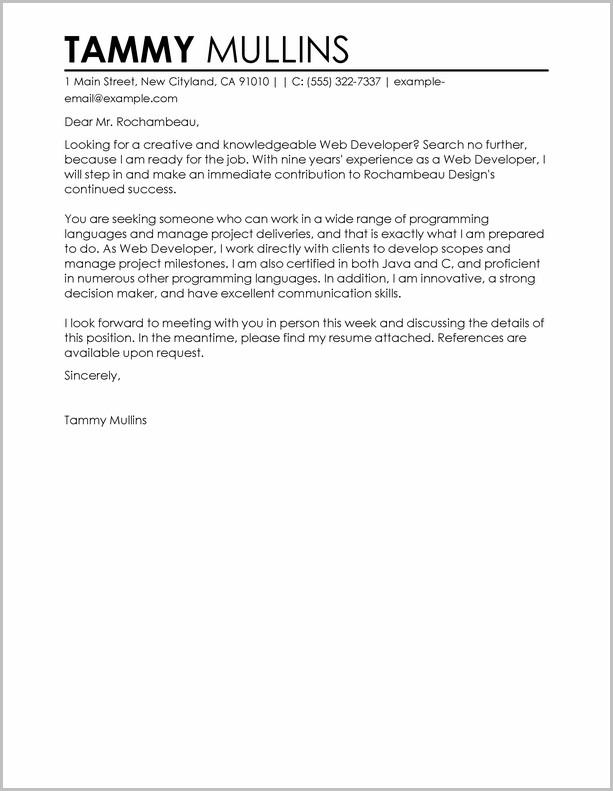 Resume Cover Letter Samples For Web Designer