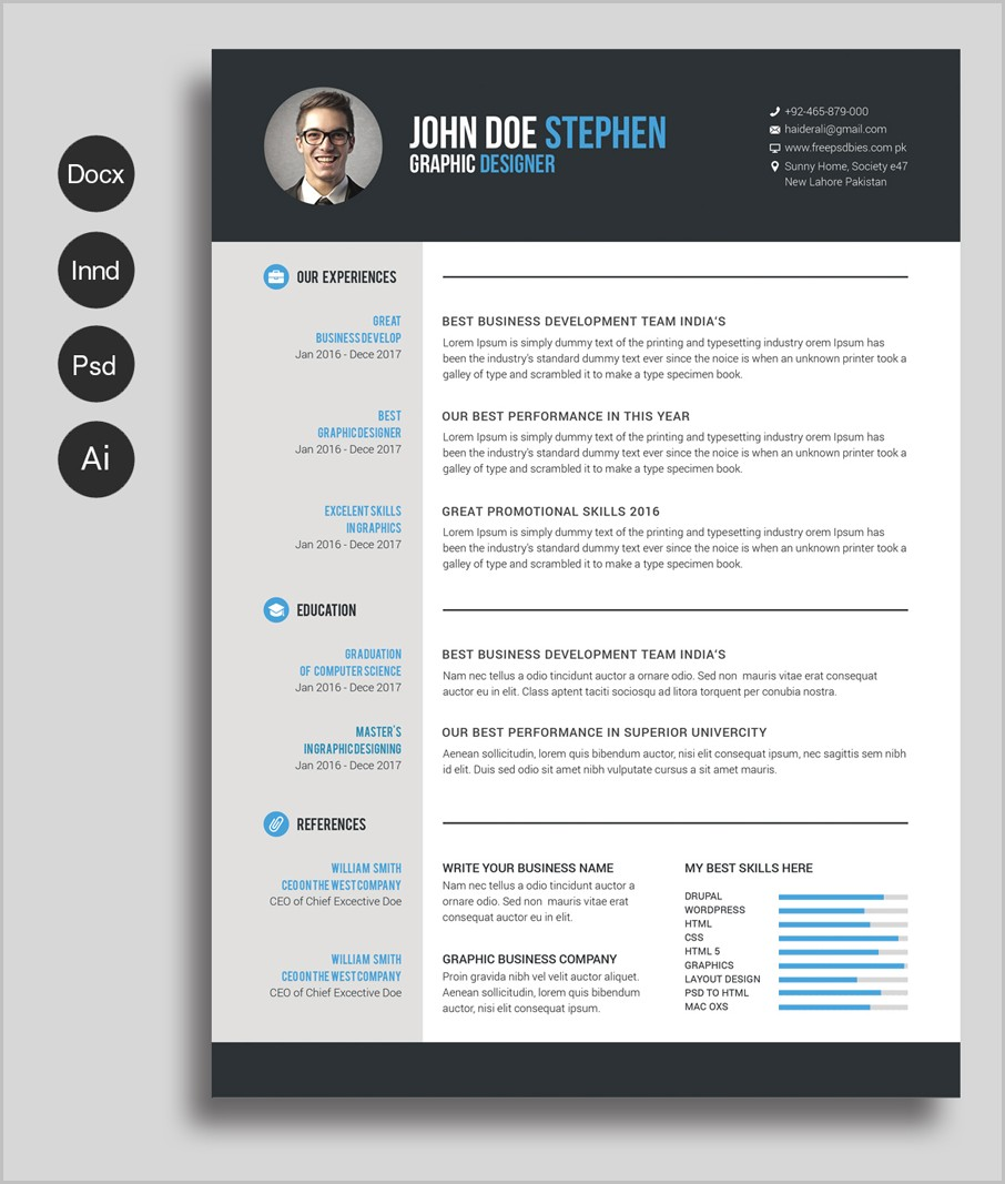 Resume Templates For Word Free