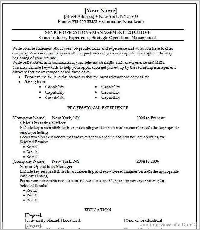 Free Resume Templates Wordpad 1 Examples