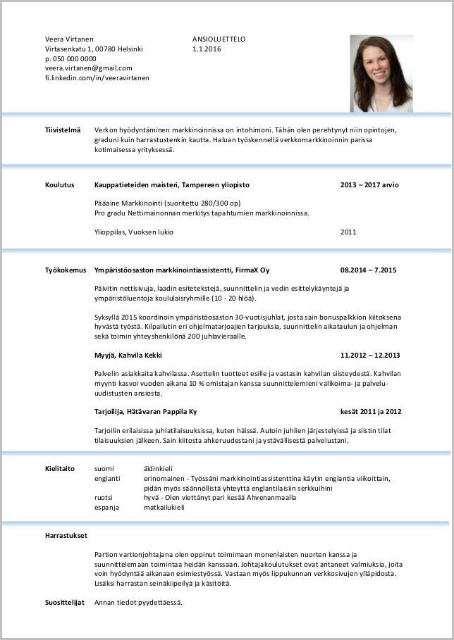 Resume Templates Word With Picture