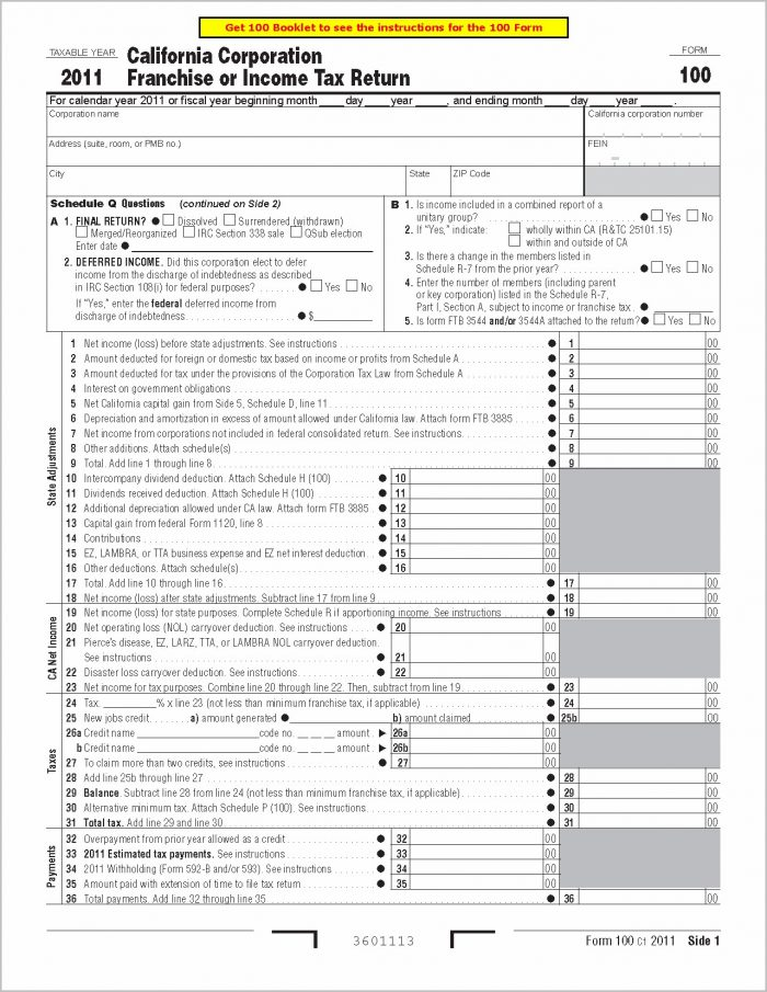Sales Tax Form Boe 401 Ez