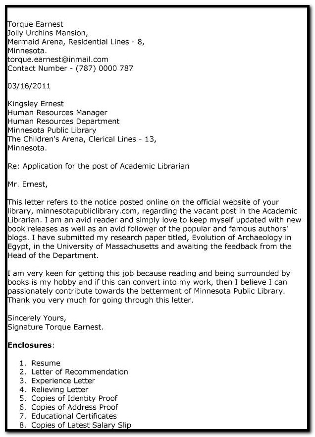 Sample Cover Letter For Assistant Professor Job