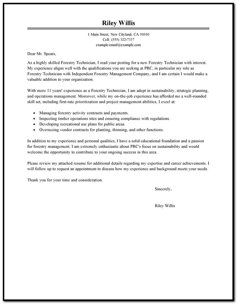 Sample Cover Letter For Demand Planning Manager