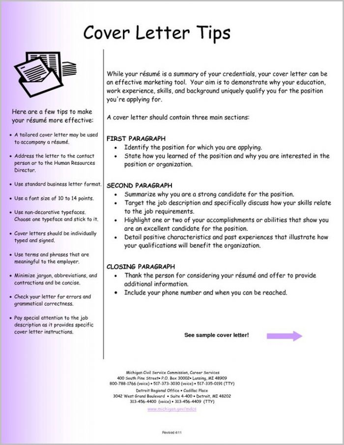 Sample Cv And Cover Letters