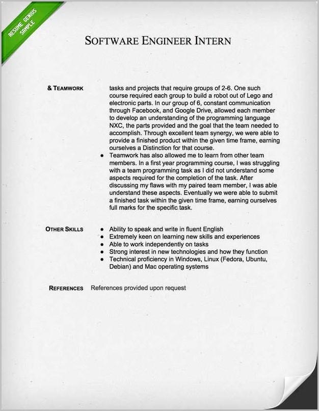 Sample Resume Cover Letter Engineer