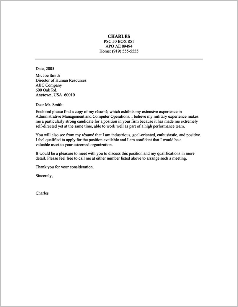 Sample Resume Cover Letter For Executive Assistant