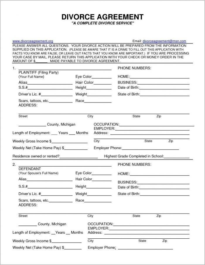 Sc Legal Divorce Forms